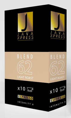 Java Xpress Nespresso Compatible Coffee Capsules Blend 62 Pack of 10