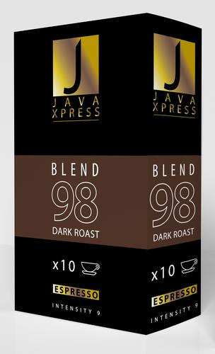 Java Xpress Nespresso Compatible Coffee Capsules Blend 96 Pack of 10