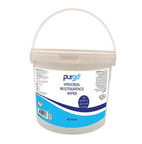 Purgo Virucidal Wipes Tub of 400