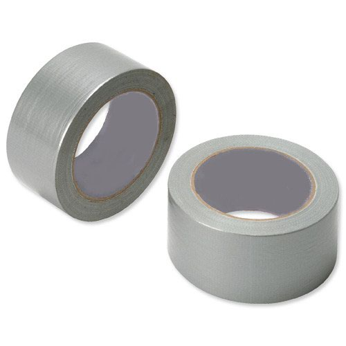 Value General Purpose Cloth Tape Silver 50mm x25m