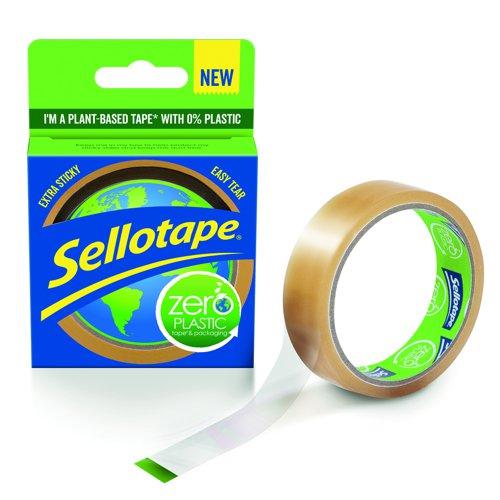 Sellotape Zero Plastic Adhesive Tape 24mm x 30m 2635499