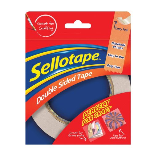 Sellotape Double Sided Tape 15mm x5m 1445293