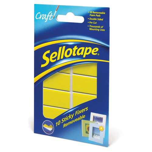 Sellotape Sticky Fixers Removable (10) 1445286