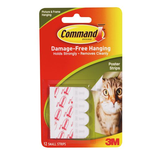 3M Command Adhesive Poster Strips (12) 17024
