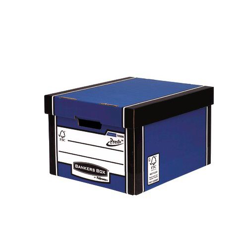 Fellowes Bankers Box Premium Presto Classic Storage Box Blue/White (5) 7250617