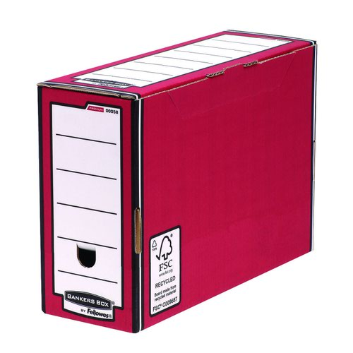 Fellowes Bankers Box Premium Transfer File Red/White (5) 0005805