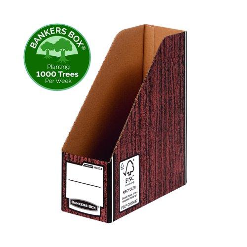 Fellowes Bankers Box Premium Magazine File A4 Woodgrain (5) 0723303