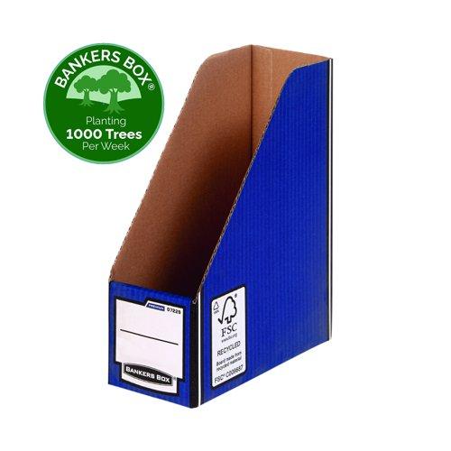 Fellowes Bankers Box Premium Magazine File A4 Blue/White (5) 0722907