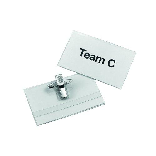 Value Combi Clip Badge 75x45mm (50)