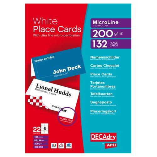 Pelltech DECAdry Place Cards 85x46mm (132) OCB3713-3
