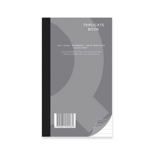 Value Triplicate Book 210x127mm