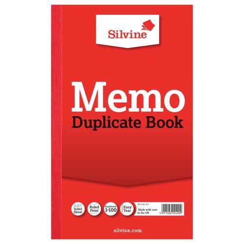 Silvine Duplicate Book 210x127mm Memo 601