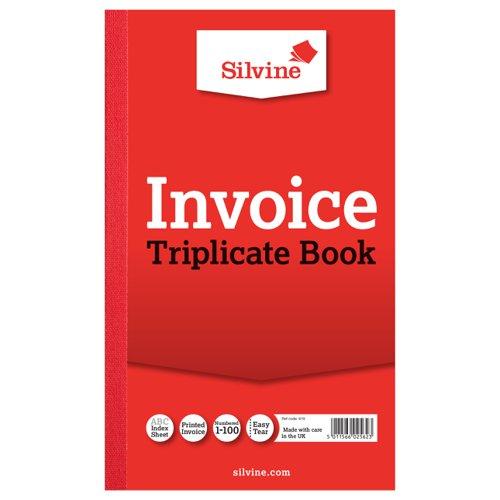 Silvine Triplicate Book 210x127mm Invoice 619