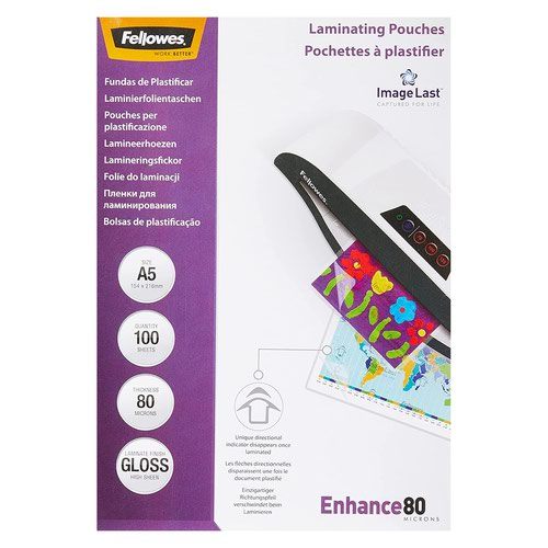 Fellowes Laminating Pouch A5 160micron (100) 5306001
