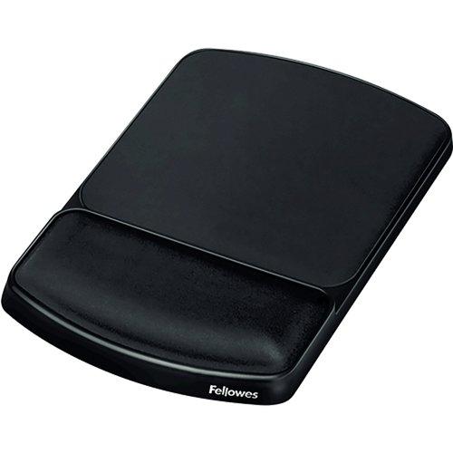 Fellowes Premium Gel Mouse Pad/Wrist Rest Texture Black 93741