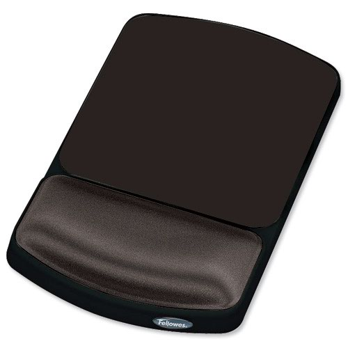 Fellowes Height Adjustable Gel Mouse Rest Graphite 9374001