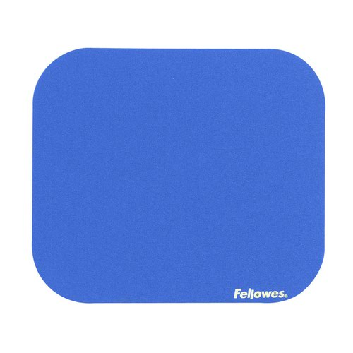 Fellowes Solid Colour Mouse Pad Blue 58021-06