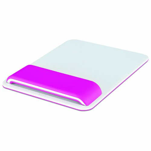 Leitz Ergo WOW Mouse Pad with Adjustable Wrist Rest Pink 65170023