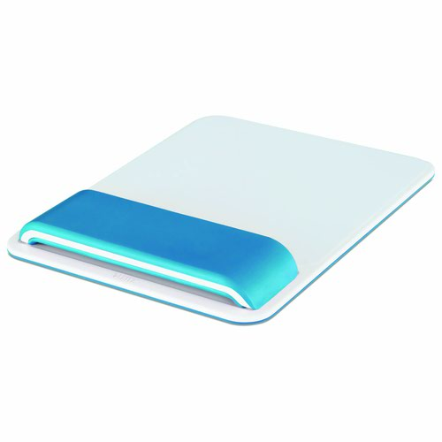Leitz Ergo WOW Mouse Pad with Adjustable Wrist Rest Blue 65170036