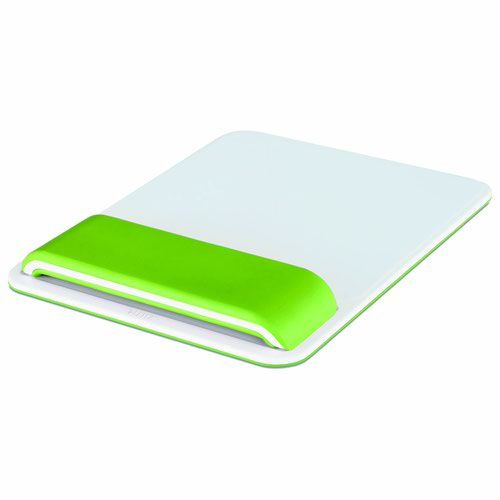 Leitz Ergo WOW Mouse Pad with Adjustable Wrist Rest Green 65170054