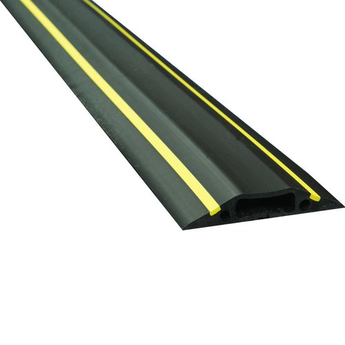 D-Line Floor Cable Cover 9m Type B Black & Yellow 30mmx10mm Inner Channel FC83H/9M