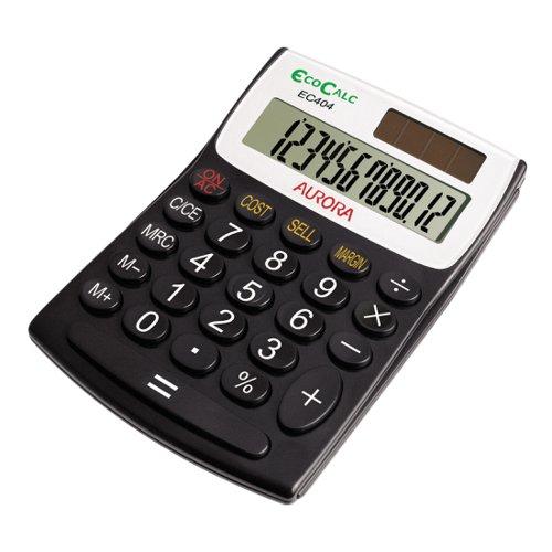 Aurora EcoCalc Semi Desk Calculator 12 Digit EC404