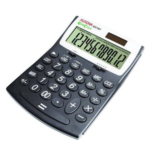 Aurora EcoCalc Large Desktop Calculator 12 Digit EC707