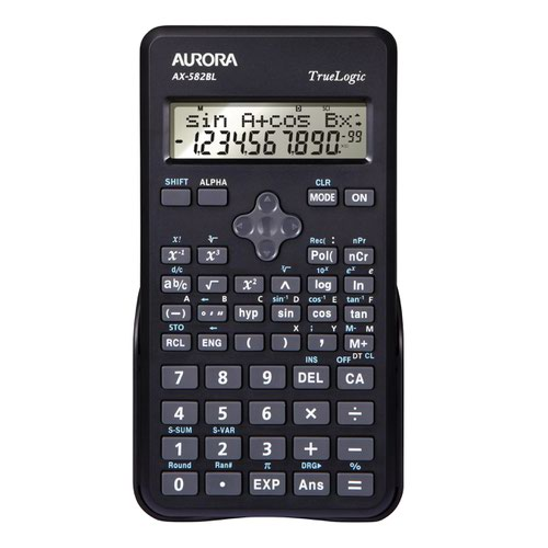 Aurora Scientific Calculator Black AX-582BL
