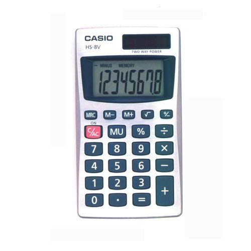 Casio Pocket Calculator Black HS8VA
