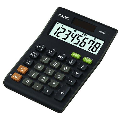 Casio Desk Calculator Tax & Currency Function 8 Digit MS-8B