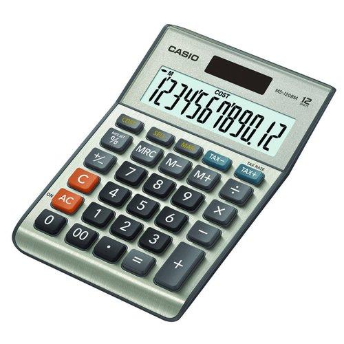Casio Desk Calculator 12 Digit Metallic MS-120BM