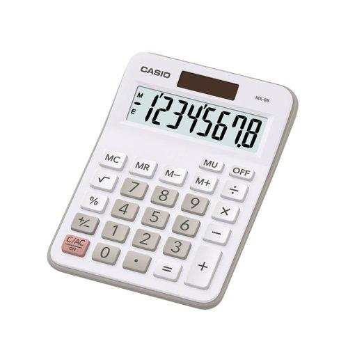 Casio Mini Desk Calculator 8 Digit Angled Display MX-8B