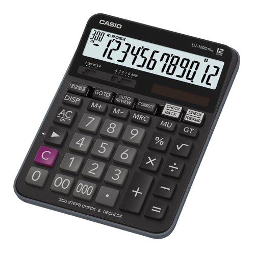 Casio Large Desk Calculator 12 Digit DJ-120DPLUS