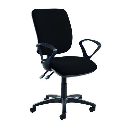 Senza Asynchro Operator Chair Fixed Arms Black SH43-000-BLK