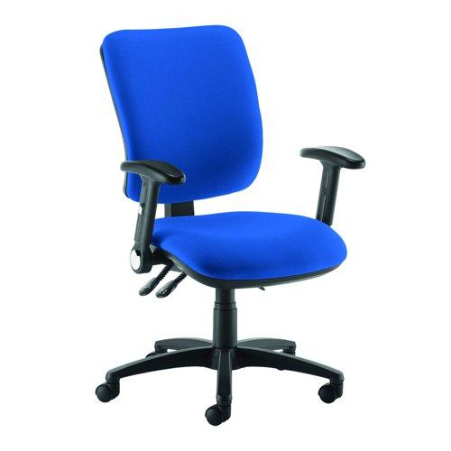 Senza Asynchro Operator Chair Folding Arms Blue SH46-000-BLU