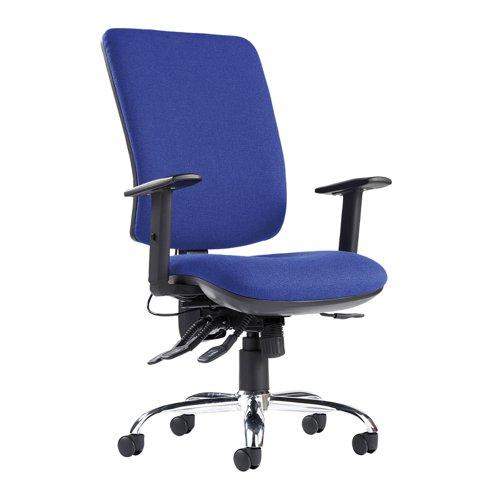 Senza Ergo Extra High Back Chair Blue SXERGOB-BLU