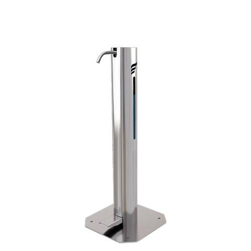 Astreea S Pedal Operated Sanitiser Dispenser 1 Litre Capacity Chrome