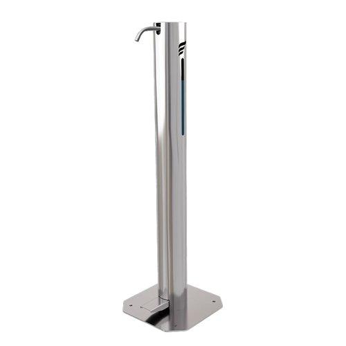 Astreea M Pedal Operated Sanitiser Dispenser 1 Litre Capacity Chrome
