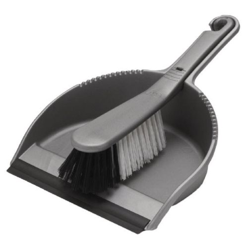 Addis Dustpan & Brush Set Metallic 9216MET