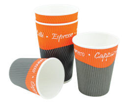 Caterpack Ripple Cups 8oz 25cl (25)