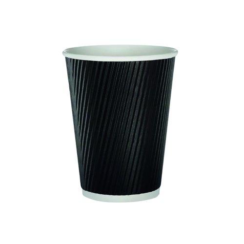 Triple Wall Ripple Cup Black 35cl/12oz (500)