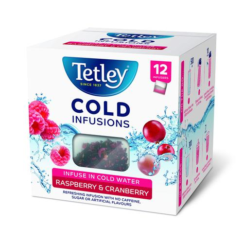 Tetley Cold Infusions Raspberry & Cranberry (12)