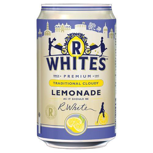 R Whites Cloudy Lemonade 330ml Can (24) 201293