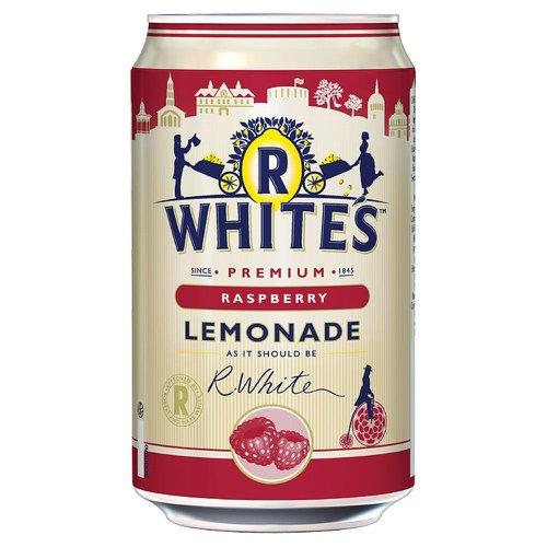 R Whites Raspberry Lemonade 330ml Can (24) 201302