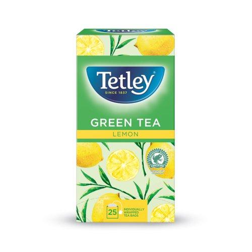 Tetley Green Tea with Lemon Tea Bags (25)