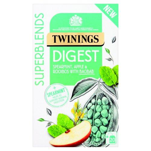 Twinings SuperBlends Digest Herbal Tea (20) F15168