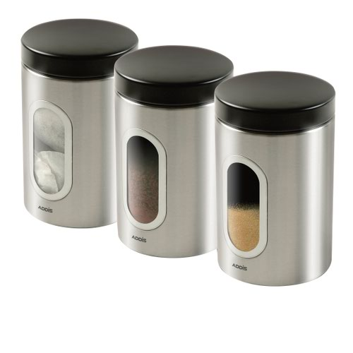 CPD Kitchen Canister Set Stainless Steel (3)