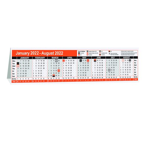Value 2022 Computer Top Calendar