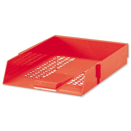 Value Plastic Letter Tray Red