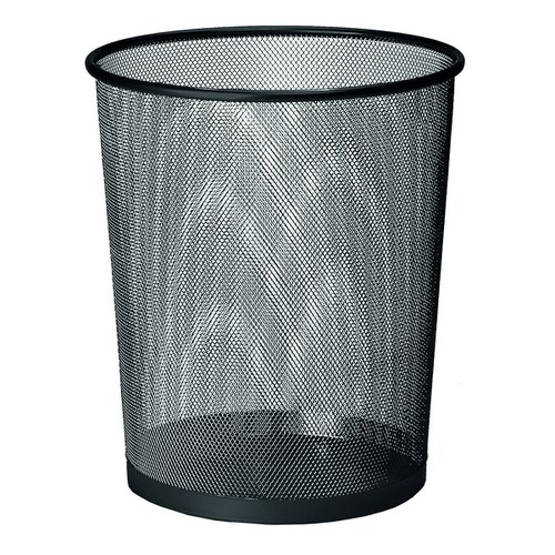 Value Wire Mesh Waste Bin Black